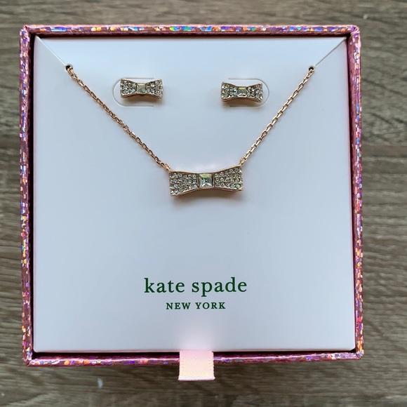 Kate Spade Ready Set Bow Rose Gold Bow Set